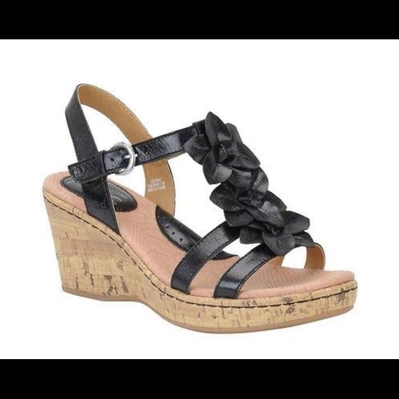 boc Shoes - B.O.C Born Concepts Prissy Leather Floral Wedges